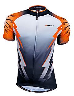 Nuckily חולצת ג'רסי לרכיבה לגברים שרוול קצר אופניים נושם ייבוש מהיר רוכסן קדמי לביש תומך זיעה ג'רזי צמרות 100% פוליאסטר טלאים אביב קיץ