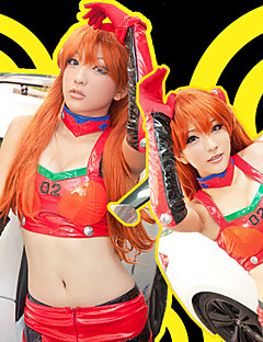 Neon Genesis Evangelion Asuka Red PU Leather Cosplay Outfit