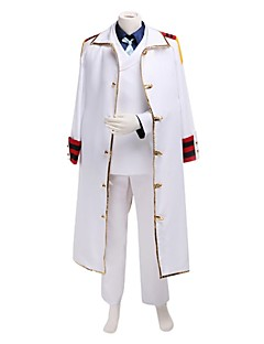 Inspired by One Piece Monkey D. Kapu Anime Cosplay Costumes Cosplay Suits Patchwork Long Sleeve Coat Shirt Pants Tie For Male