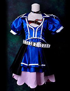 Inspired by Vocaloid Meiko Video Game Cosplay Costumes Cosplay Suits Patchwork Blue Top
