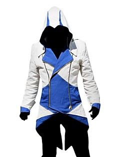 geinspireerd door Assassin's Creed Assassin Video Spel Cosplay Kostuums Cosplay Kostuums Patchwork  Lange mouw Jas