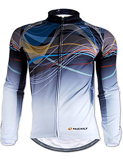 NUCKILY® Cycling Jersey Men's Long Sleeve Bike Breathable / Thermal / Warm / Front Zipper / Wearable Jersey / Tops 100% Polyester / Fleece