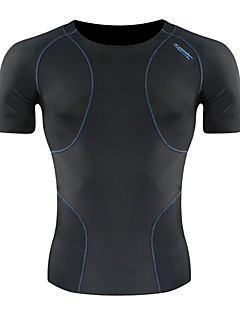 SANTIC® Cycling Jersey Men's Short Sleeve Bike Breathable Jersey / Base Layers / Tights / Tops Spandex Solid Spring / Summer Cycling/Bike