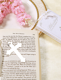 Stainless Steel Cross Bookmark Wedding Favor With White Tassel