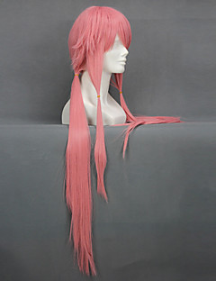 Cosplay Wigs The Future Diary Gasai Yuno Pink Long / Straight Anime Cosplay Wigs 80 CM Heat Resistant Fiber Female
