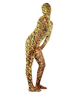 Ternos Zentai com Padrão Ninja Fantasia Zentai Fantasias de Cosplay Amarelo Cor Única Malha Collant/Pijama Macacão / Fantasia Zentai