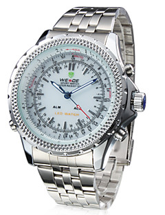WEIDE® Men's Watch Dress Watch Dual Time Zones Water Resistant Analog-Digital Display Wrist Watch Cool Watch Unique Watch Fashion Watch
