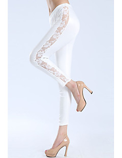Kvinnors Cut Out Flower Legging (Midja :58-79, Hip :90-104, Längd: 74cm)