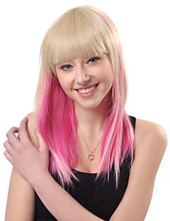 로리타의 가발은 지퍼 야기한 컷 황금, 분홍색 혼합 색상 48cm 펑크에서 영감을
