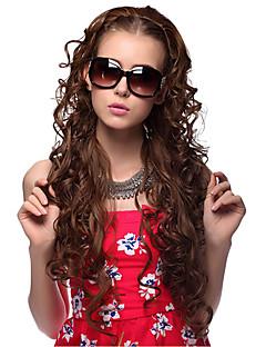 Sin tapa larga sintético de alta calidad Curly Hair Wigs