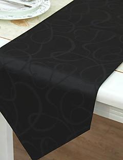 Classic Noir Chemins de table géométriques