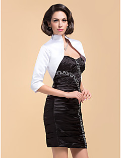 fabelagtige 3/4 længde ærme satin særlig lejlighed aften jakke / bryllup wrap (flere farver) bolero skuldertræk
