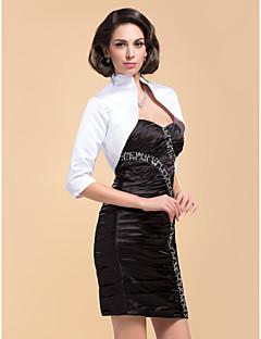Party/Evening Satin Coats/Jackets 3/4-Length Sleeve Wedding  Wraps