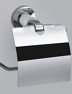 """Porte Papier Toilette Chrome Fixation Murale 145 x 135 x 75mm (5.70 x 5.31 x 2.95"""") Laiton Contemporain"""