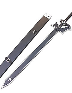Sword Art Online Kirito Black Sword Elucidator Wood Anime Cosplay Sword with Sheath