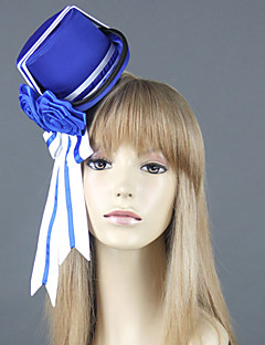 Chapéu Inspirado por Black Butler Ciel Phantomhive Anime Acessórios de Cosplay Larga / Chapéu Branco / Azul Uniforme de Pano Masculino