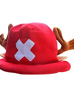 Copricapo Ispirato da One Piece Tony Tony Chopper Anime Accessori Cosplay Cappellini / Cappelli Rosso Pile Uomo