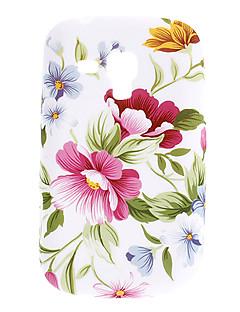 Flower Pattern TPU Soft Taske til Samsung Galaxy Trend Duos S7562