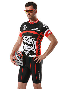 RUSOO COOLDRY Material Short Sleeve Breathable Men Cycling Jersey RS-D006