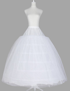 תחתונית  סליפ שמלת נשף אורך עד לרצפה 3 רשתות בד טול טפטה אורגנזה לבן Kuten kuva