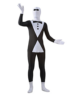 Black and White Tuxedo Spandex Lycra Zentai Morph Suit