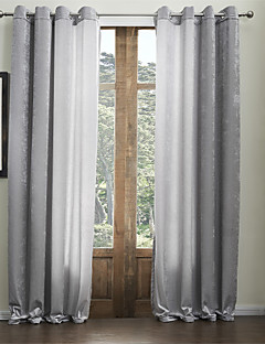 (Two Panels) Chenille Solid Classic Rayon Eco-friendly Curtain
