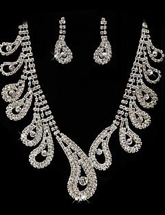 splendido strass nozze sposa collana, orecchini gioielli set