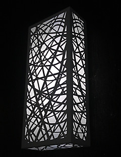 40W Modern Wall Light with Scratched Sculptured Cubic Stainless Steel Shade