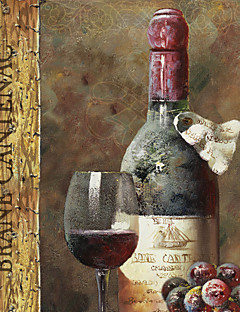 Stretched Canvas Art Still Life Wine Collection IV by NBL Studio Ready to Hang