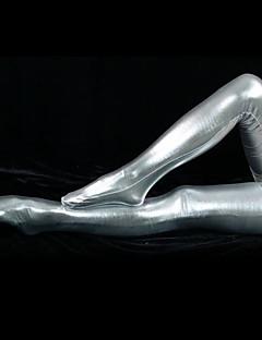 Silver Shiny Metallic Sukkahousut