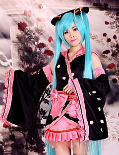 sakura kimono miku pink bowknot cosplay kostume