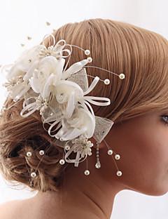 קריסטל חוט יפה עם חיקוי פניני חתונה / כלה כיסוי ראש פרח