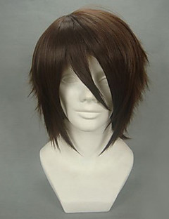 Cosplay Wigs Cosplay Okita Souji Brown Short Anime/ Video Games Cosplay Wigs 32 CM Heat Resistant Fiber Male
