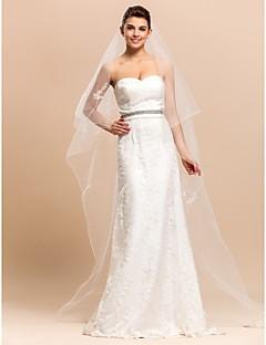 2 Lag Kapel Wedding Bridal Veil Med blyant Edge