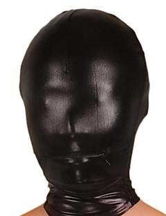 Mask Ninja Zentai Cosplay Costumes Black Solid Mask Shiny Metallic Unisex Halloween / Christmas