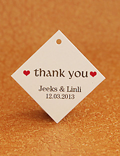 Personalized Rhombus Favor Tag - Thank You (Set of 30)