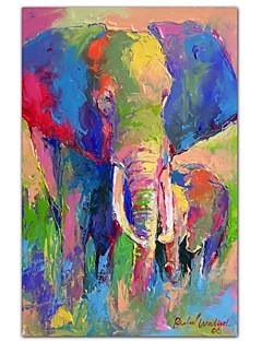étiré l'art de toile éléphant animal 1 par richard WALLICH prêt à accrocher