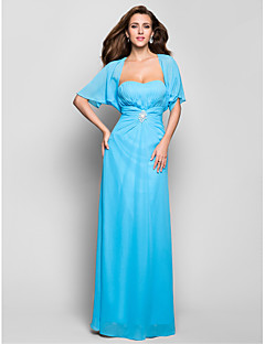 Formal Evening/Military Ball Dress - Pool Plus Sizes Sheath/Column Sweetheart Floor-length Chiffon
