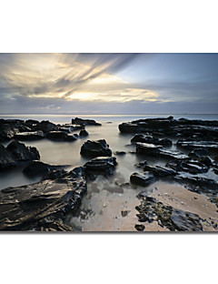 Printed Canvas Art In the Middle by Michael de Guzman with Strethed Frame