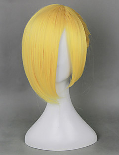 Cosplay Wigs Attack on Titan Annie Leonhardt Yellow Short Anime Cosplay Wigs 35 CM Heat Resistant Fiber Female