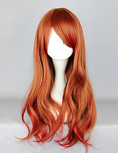 Zipper Brown and Red Soft Wave 65cm Sweet Lolita Wig