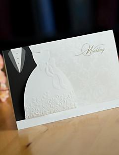 Stilfuld Bride & Groom Wedding Invitation (Sæt med 50)