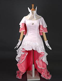 קיבל השראה מ Puella Magi Madoka Magica Madoka Kaname אנימה תחפושות קוספליי חליפות קוספליי / שמלות טלאים לבן בלי שרווליםשמלה / אביזר לשיער