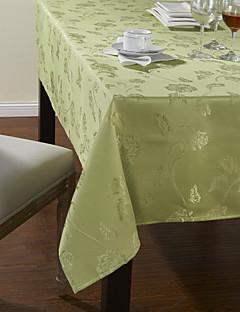 Classique Polyester vert Jacquard Nappes Floral