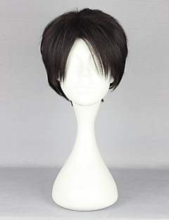 Cosplay Wigs Attack on Titan Levy Black Short Anime Cosplay Wigs 28 CM Heat Resistant Fiber Male