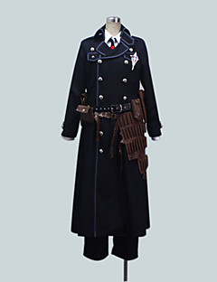 Inspired by Blue Exorcist Yukio Okumura Anime Cosplay Costumes Cosplay Suits Solid Black Long Sleeve Coat / Shirt / Pants