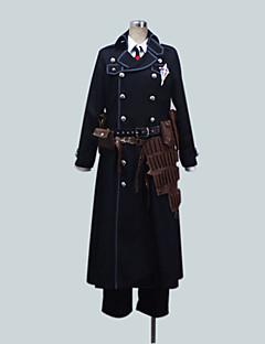 Inspirado por Blue Exorcist Yukio Okumura Anime Fantasias de Cosplay Ternos de Cosplay Cor Única Preto Manga CompridaCasaco / Camisa /