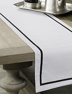 Black Line Hvit Table Runner