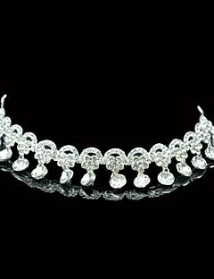 Vrouwen Kristallen / Licht Metaal Helm-Bruiloft / Speciale gelegenheden Tiara's Zoals de Afbeelding