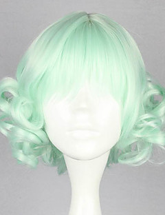 Lolita Wigs Sweet Lolita Lolita Short / Curly Light Green Lolita Wig 32 CM Cosplay Wigs Solid Wig For Women